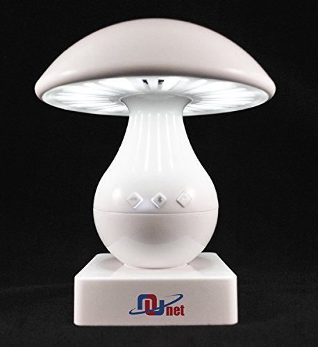 Nunet® Mushroom Nursery Portable Light LED Touch Controlled Dimmable Lamp with Bluetooth Speaker and MicroSD card (TF card) mp3 Player - 1