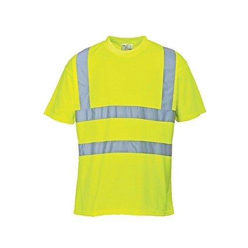 Portwest-S478YERM-Maglietta-con-bande-riflettenti-alta-visibilit-taglia-M-giallo