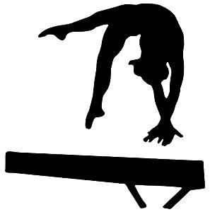 Amazon.com - Black Balance Beam Hand Spring Gymnastics Silhouette Wall