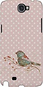 Snoogg Bird Grunge Case Cover For Samsung Galaxy Note Ii