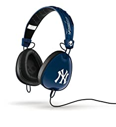 Skullcandy Aviator Yankee Headphones - Navy/White/White Mic3