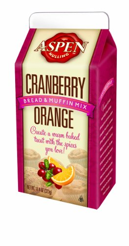Aspen Mulling Bread and Muffin Mix, Cranberry Orange, 11.4-Ounce (Pack of 4)