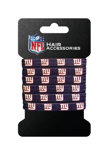 NFL New York Giants Hair Accessory 6-Elastic Ponytail Bands (Ny Giants Tie Clip compare prices)