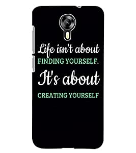 ColourCraft Quote Design Back Case Cover for MICROMAX CANVAS XPRESS 2 E313