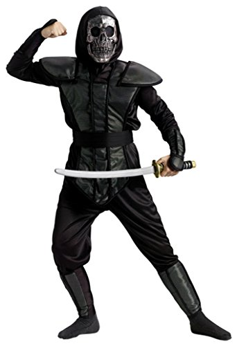 Boys Ninja Master Kids Child Fancy Dress Party Halloween Costume