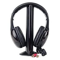 Technotech MH2001 5-In-1 Wireless Headphone(Black)