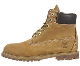 Timberland Women\'s 6-Inch Premium Boot,Wheat Nubuck,8 B(M) US