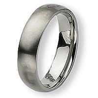Chisel Rounded Brushed Titanium Ring (6.0 mm) - Sizes 6-13