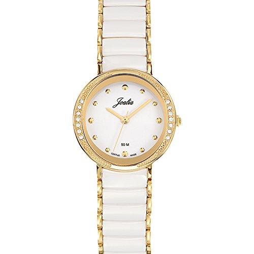 Joalia 631146 - Orologio da polso donna, acciaio inox, colore: bianco