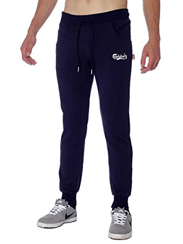 Pantalone Carlsberg In Felpina Invernale CBU2460 Made In Italy Blu, XL MainApps
