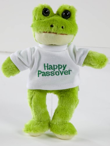 Happy Passover Plush Frog Toy - 1
