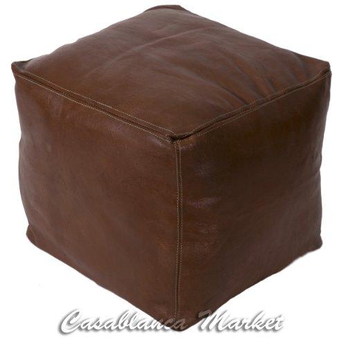 Enjoyable Cheap Moroccan Leather Pouf Ottoman Tobacco Stuffed Short Links Chair Design For Home Short Linksinfo