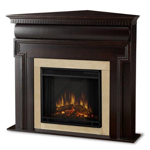 The Washington Ventless Electric Indoor Corner Fireplace - Dark Walnut image B007PRFP7E.jpg