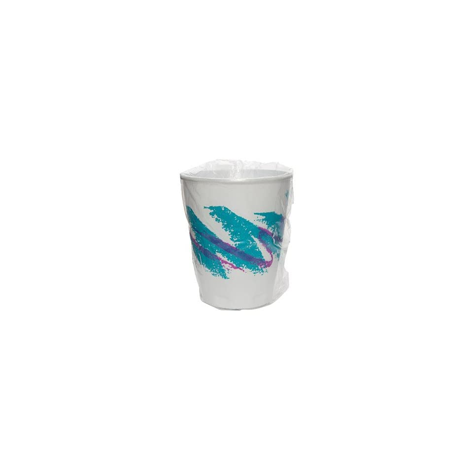 Solo Jazz Design Trophy Foam Hot/Cold Drink Cups, Wrapped, 9 oz, Teal