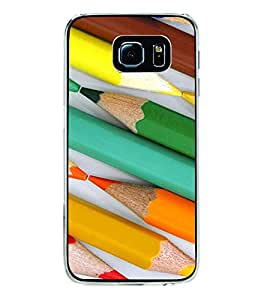 Colourful Pencils Pattern 2D Hard Polycarbonate Designer Back Case Cover for Samsung Galaxy S6 G920I :: Samsung Galaxy G9200 G9208 G9208/SS G9209 G920A G920F G920FD G920S G920T