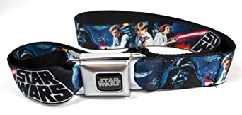 Star Wars Seatbelt Buckle Belt - Classic Movie Montage Logo