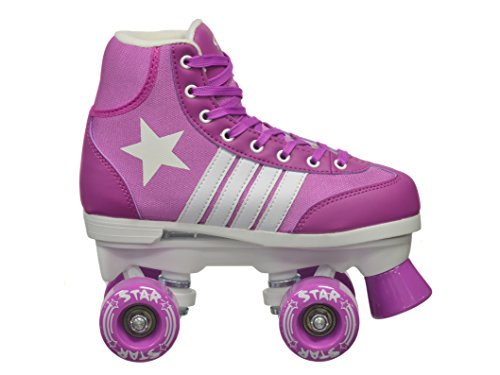 epic skates 2016 epic star pegasus 4 indoor outdoor classic high top quad roller skates purple. Black Bedroom Furniture Sets. Home Design Ideas