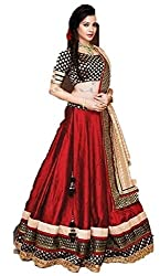 Sweety Plus Women's Benglory Silk Lehenga Choli (Mira_0011_Red_Free Size)