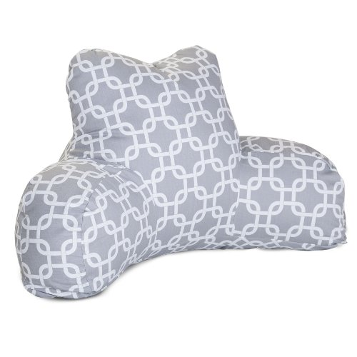 Majestic Home Goods Links Reading Pillow, Gray
