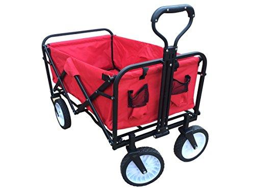 ABO Gear Collapsible Folding Utility Wagon Garden Cart Shopp