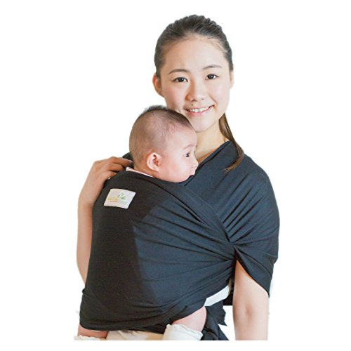 Best Price Classic Cotton Baby Wrap - SOFTER and STURDIER Proprietary Fabric, by Beechtree Baby (Bla...