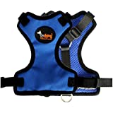 SCT Comfort Control Dog Walking Harness, Padded Mesh Vest One Side Nylon Cloth,Blue L