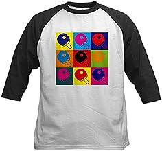 CafePress Kids Baseball Jersey - Table Tennis Pop Art Kids Baseball Jersey