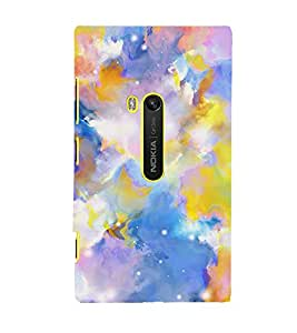 MODERN ART BLUE AND YELLOW PATTERN 3D Hard Polycarbonate Designer Back Case Cover for Nokia Lumia 920 :: Microsoft Lumia 920
