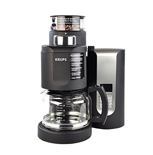 Krups Km 700 Grind And Brew Coffee Maker : KRUPS KM7000 10-Cup Grind and Brew Coffee Maker with Stainless Steel Conical Burr Grinder, Black ...
