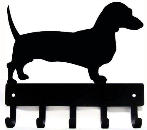 Dachshund Key Rack/ Dog Leash Hanger - SMALL 6 inch wide x 5 inch high - Artisan Metal Shop Gifts