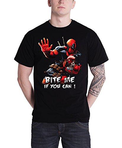 Deadpool - Canotte - Maniche corte  - Uomo, Cotone, nero, x-large