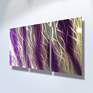 metal wall art modern home decor abstract artwork sculpture purple reef by miles. Black Bedroom Furniture Sets. Home Design Ideas