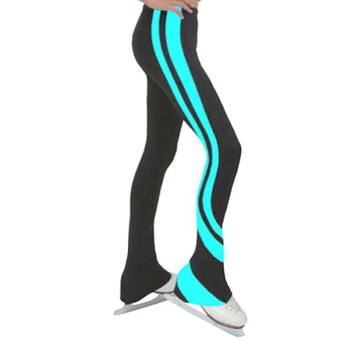 ChloeNoel Black Blue Swirl Ice Skating Pant Girl 5-6
