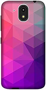The Racoon Lean Purple Crystal Stars hard plastic printed back case / cover for HTC Desire 526G Plus
