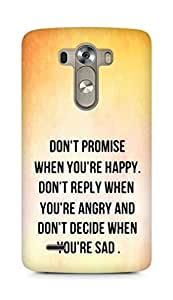 AMEZ dont promise when you are happy Back Cover For LG G3