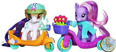 Exclusive My Little Pony Scooter Friends Daisy Dreams & Rarity