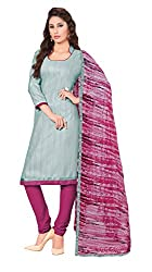 Women Latest Fancy Designer Salwar Suit Dress Material Khadi Grey Dyed + Lace Unstitched