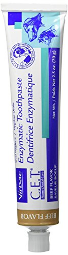C.E.T. Enzymatic Toothpaste for Dogs and Cats, Beef, 2.5 oz (T Brush compare prices)