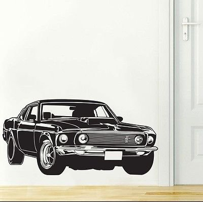 Ford Mustang Shelby GT Muscle Race Car Wall Decal Sticker Decor Wall Art Vinyl