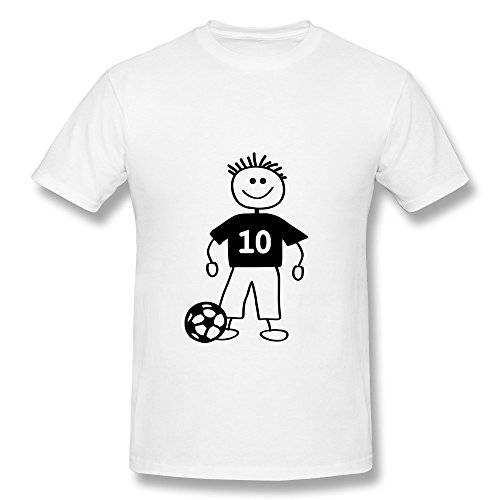 Funny Soccer Player Personalized 100% Cotton Tees For Man back-223929