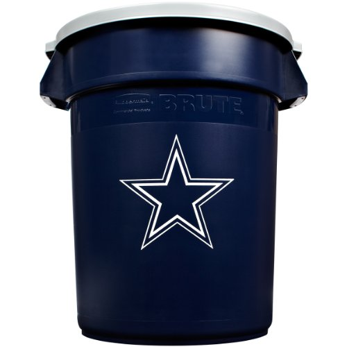 Rubbermaid Commercial Team Brute 32-Gallon Trash Can and Lid, Dallas Cowboys at Sears.com