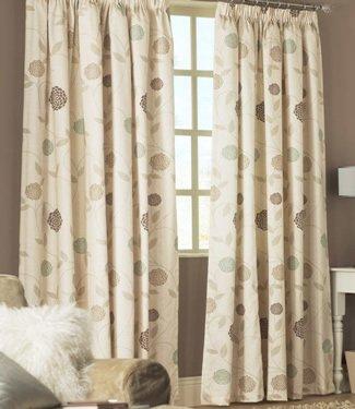 Cream Natural Curtains - Rosemont - 90'' x 108''