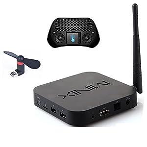 Develop Minix Z64 Windows 8.1 Smart TV Box Z3735F CPU 64 Bit 2GB Ram 32GB eMMc Rom Bluetooth 4.0 Full HD Streaming Media Player+Free GP800 Touchpad Wireless Keyboard + Air Fan