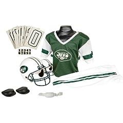 New York Jets Football Deluxe Uniform Set - Size Medium by Hall of Fame Memorabilia