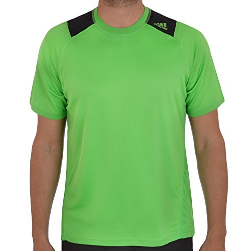 adidas-Performance-Mens-Running-T-Shirt-Top-Green-S