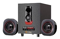 Flow Blaze 2.1 Multimedia Bluetooth Speaker System with FM USB MMC Digital Display Remote