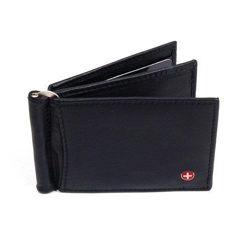 Imagen de Mens Leather Wallet Money Clip Primavera bolsillo frontal Billetera 11 Tarjetas Thim Delgado Billetero