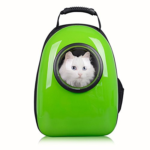 Pettom Pet Dog Cat Bubble Carrier Airline Approved Shoulder Backpack Mobile Bed for Travel Hiking