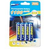 8 x Pack AAA Palocell Rechargeable Batteries NIMH 1100 Mah