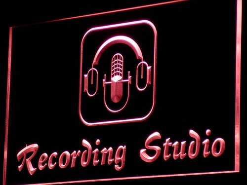 Adv Pro I801-R Recording Studio Microphone Bar Neon Light Sign